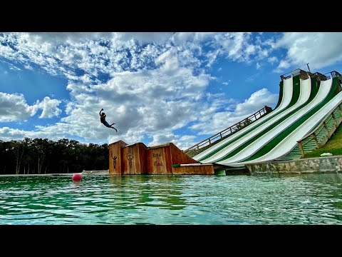 GIANT Waterslide Battle | Dude Perfect