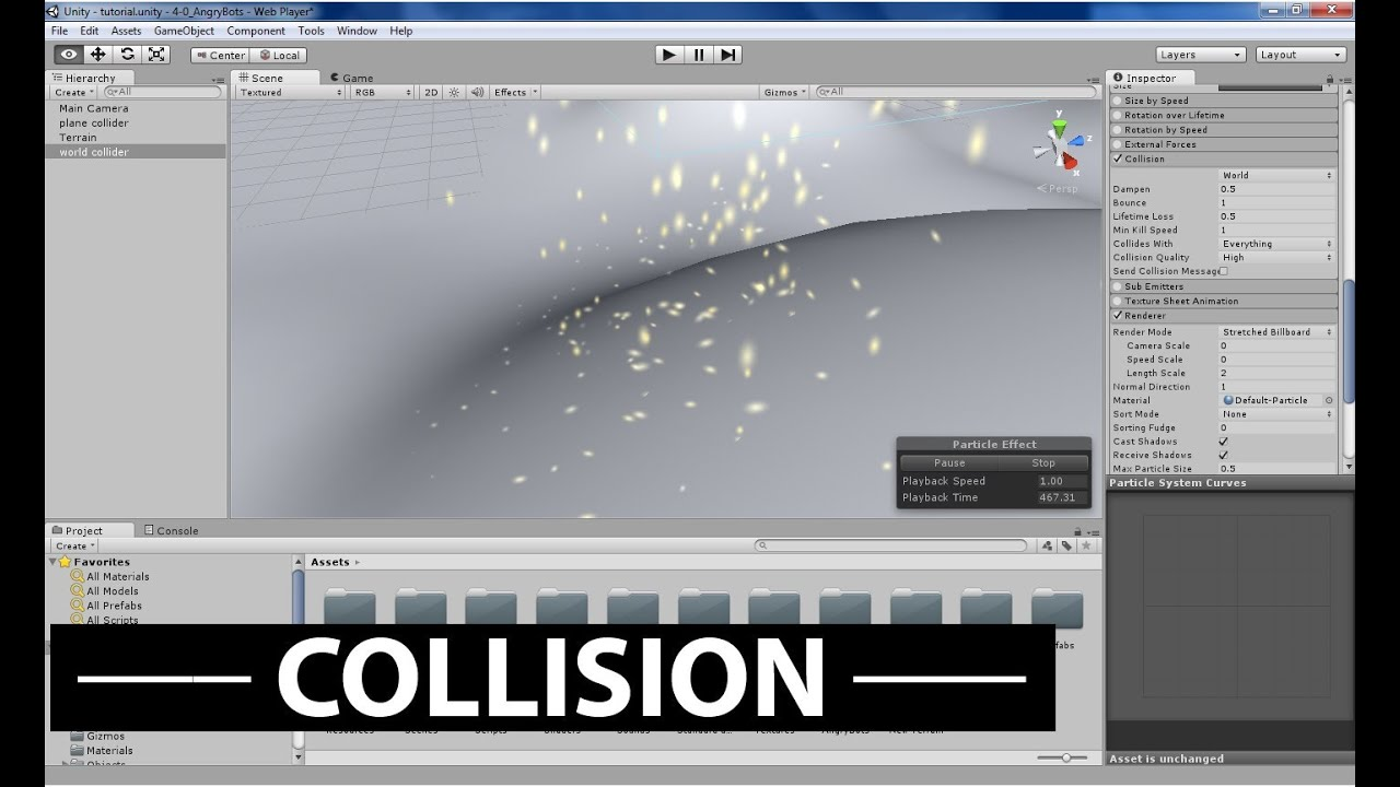 how to detect collision in unity