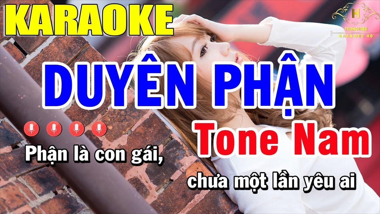 Karaoke Duyên Phận Tone Nam Nhạc Sống Cực Chuẩn 2020 | Trọng Hiếu
