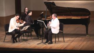Bartók Contrasts for Clarinet, Violin & Piano - 2nd mvt. | T. Levy, G. Schmidt, V. Asuncion