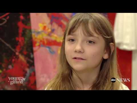 9-Year-Old Abstract Painter Aelita Andre Opens Solo Show in Famed Museum