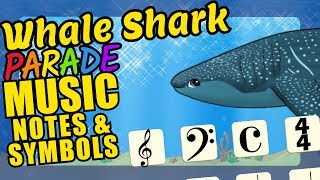 Whale Shark Teaching Musical Notation and Symbols Educational Music Video for Kids