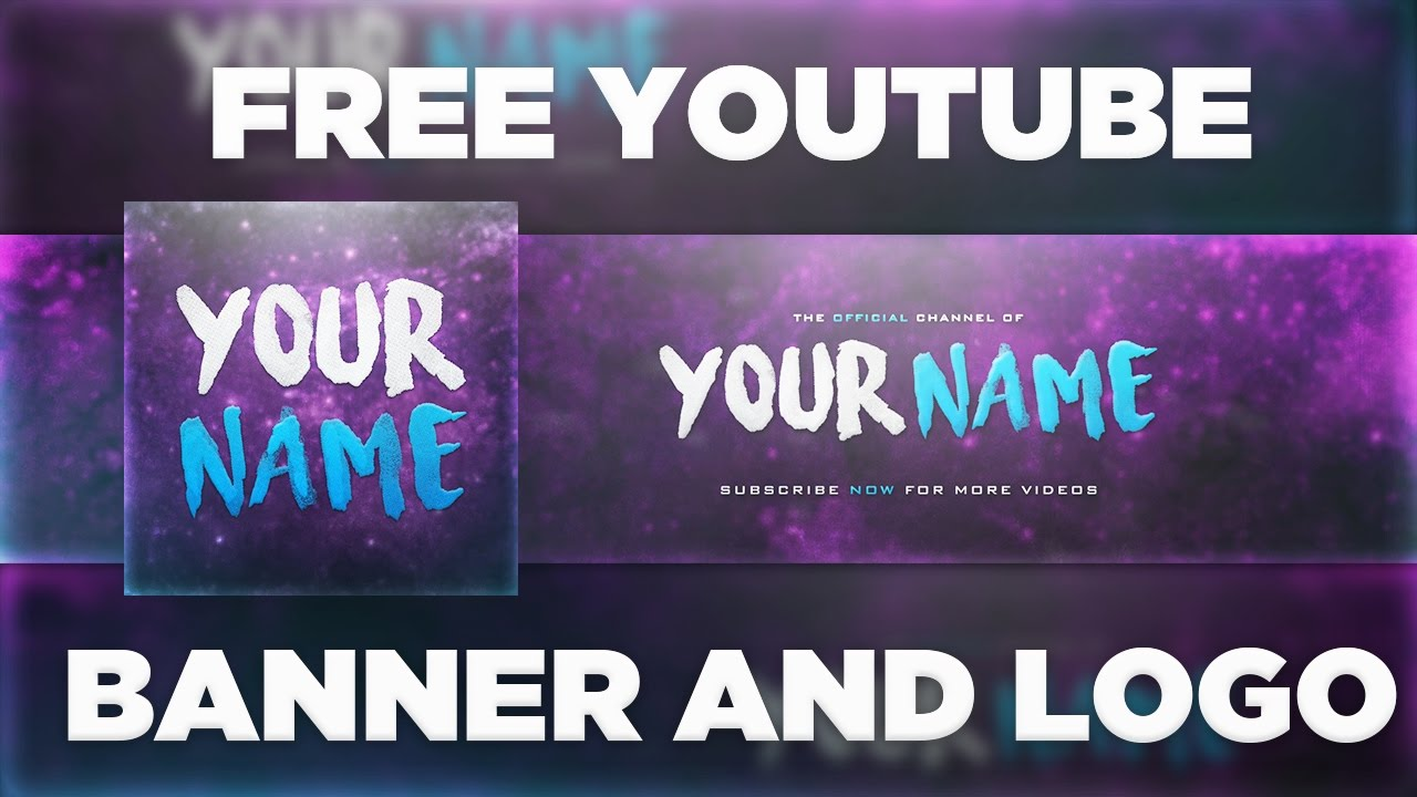 Space YouTube Banner Template + Logo (Photoshop PSD) | Free Download ...