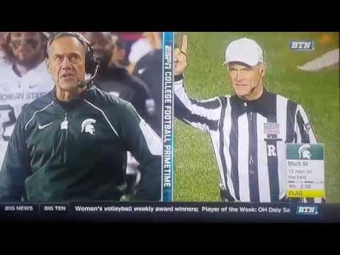 Nebraska Vs  # 7 Michigan State Nov. 7, 2015 College Football