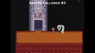 All WD Gaster encounters in Undertale