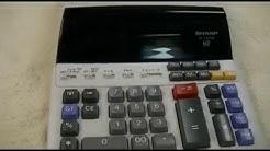 Sharp EL-1197 PIII Printing Calculator