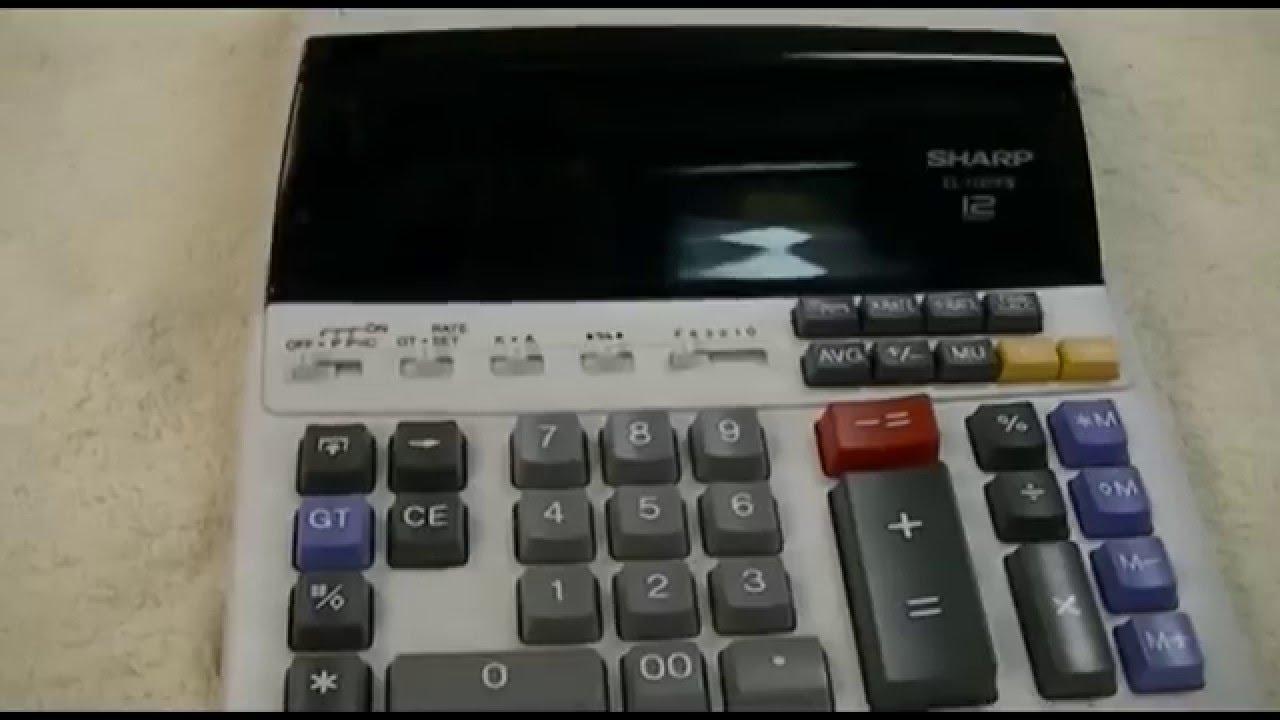 sharp el 1197 piii printing calculator youtube rh youtube com KB Sharp 6525P5 Sharp ManualsOnline