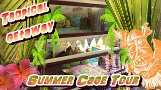 Guinea Pig Cage Tour:  Tropical Getaway Summer Theme!