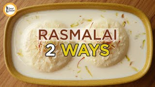 Rasmalai 2 ways Recipes By Food Fusion ( Read description for tips)