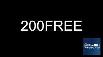 William Hill Casino-Club Gutscheincode: 200FREE