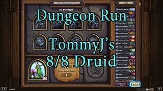 Hearthstone: Kobolds and Catacombs Druid 8/8 Dungeon Run