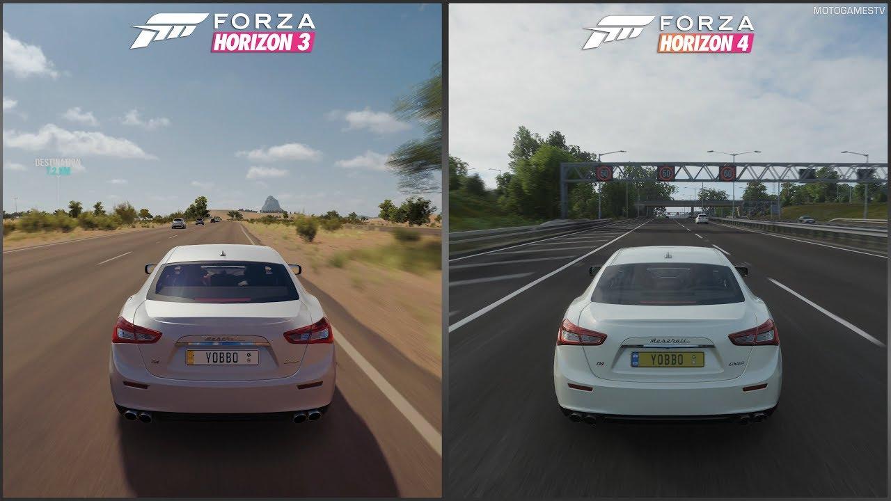 Forza Horizon 3 vs Forza Horizon 4 - 2014 Maserati Ghibli S