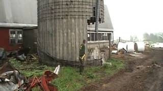 taking down a silo with a sledgehammer