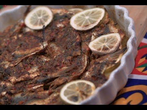 صينيه سردين بالكمون والليمون / غموس رنجه بالطحينه | سارة عبد السلام | سنة اولي طبخ PNC FOOD