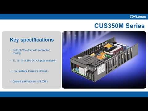 CUS350M Single Output, Low Profile, Medical Power Supplies Video