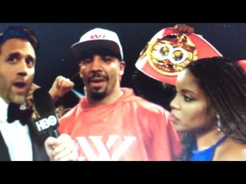 Andre Ward Post Fight Interview With Max kellerman After Knocking Out Sergey Kovalev