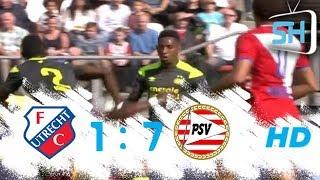 FC Utrecht vs PSV 1-7 Eredivisie All Goals and Highlights September 24,2017