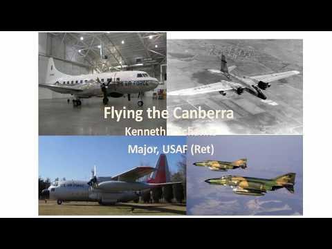 Ken Schanke discusing the Martin B-57 Aircraft
