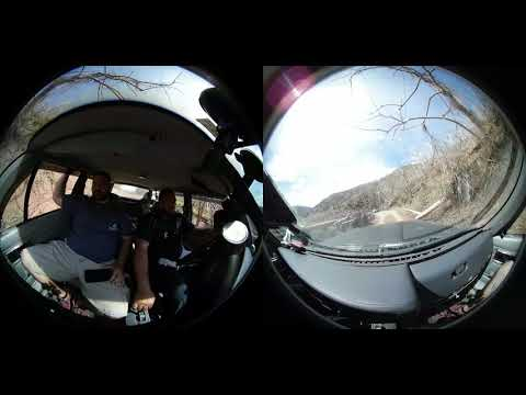 360 of Driving through the mountains of Comerio, Puerto Rico after Hurricane Maria