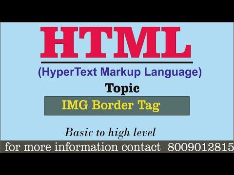 Basic HTML Practical || IMG -  BORDER TAG || Full Tutorial For Beginners In Hindi