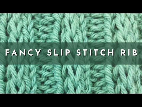 How To Knit The Fancy Slip Stitch Rib Pattern English Style Youtube