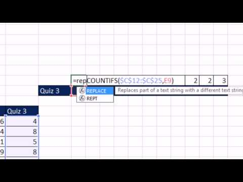 Excel 2013 Statistical Analysis #15: Create Dot Plot In Excel Using COUNTIFS And REPT Functions