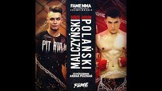 ADRIAN POLAK vs DAWID MALCZYŃSKI i DANIEL MAGICAL vs RAFONIX na FAME MMA 2 - Na żywo