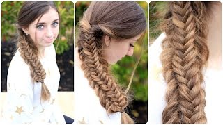 Messy Split Fishtail Braid | Cute Braids