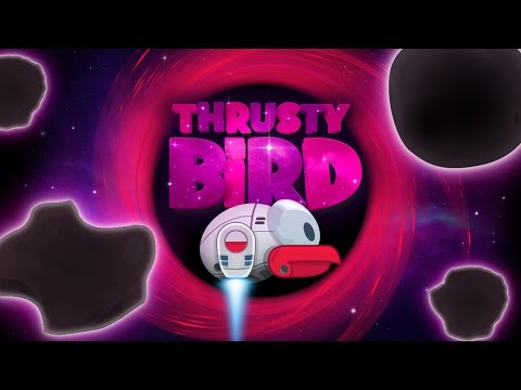 Thrusty Bird Endless Asteroids gameplay demo