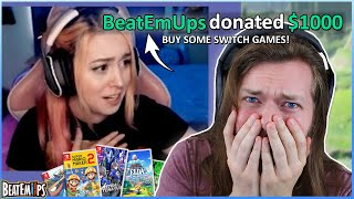 Donating $1000 Worth of Nintendo Switch Games to Streamers