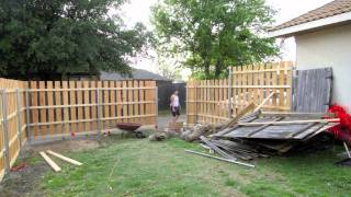Building A New Fence For Ralo - April 2011