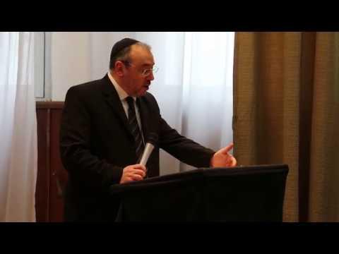 """Rab. Dr. Fishel Szlajen en Ministerio de Salud de la Nación sobre """"Humanización del Acto Médico"""" (VIDEO)"""