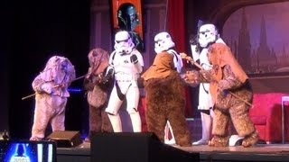Stormtrooper Pre-Show Skit 2013 Before Stars of the Saga Show, Star Wars Weekends - Killer Ewoks