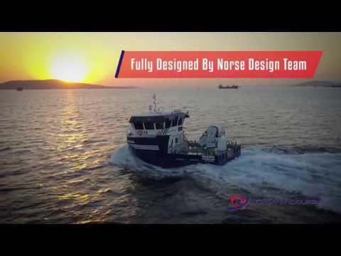 Norse Shipbuilding MS Regina Fish Farm Service Vessel Promo BY Flycam Productions