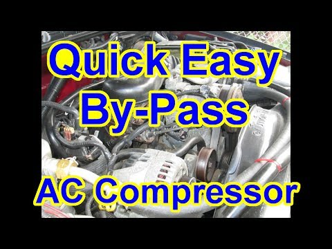 easy bypass ac compressor - compressor locked up test vortec 4 3l s10  blazer chevy - youtube