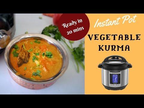 Vegetable Kurma Restaurant Style || Vegetable kurma Sarvana bhavan style || Veg kurma in Insant Pot