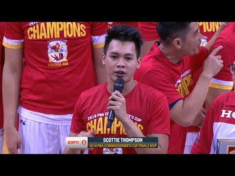 Scottie Thompson is the Finals MVP  PBA Commissioner's Cup 2018
