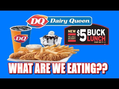 Dairy Queen Chicken Tenders $5 Buck Lunch | MY FIRST Fast Food Review | The Wolfe Pit