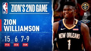 Zion Records 15 PTS On 7-9 FGM In Second Career Game!