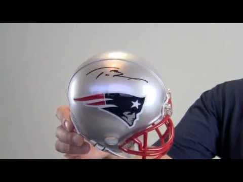 773532f19 Tom Brady Autographed Mini Helmet - YouTube