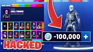 Watch How A Fortnite HACKER Stole 100,000 V BUCKS In 1 Minute