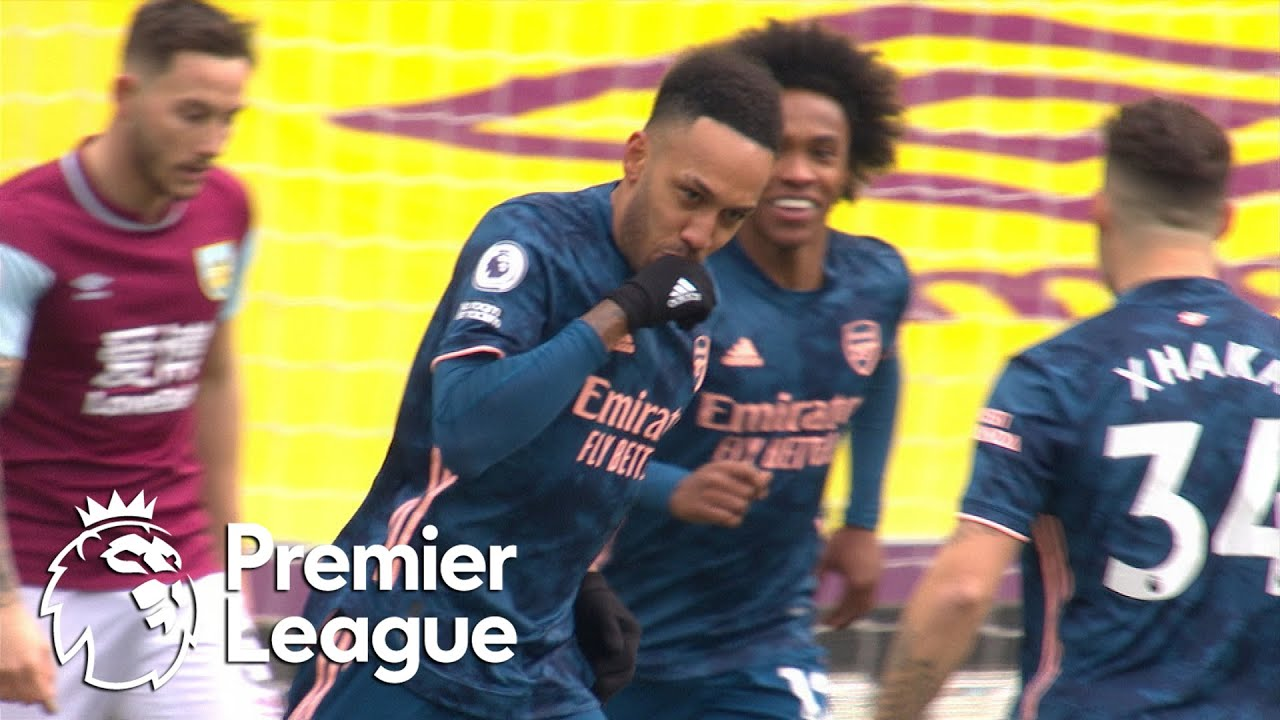 Pierre-Emerick Aubameyang sneaks Arsenal in front of Burnley | Premier League | NBC Sports