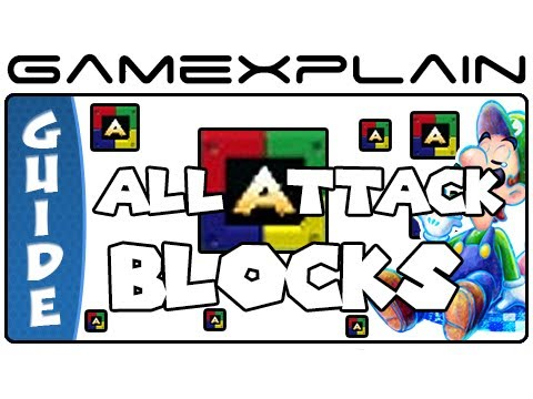 All Attack Block Locations: Mario & Luigi: Dream Team - Guid