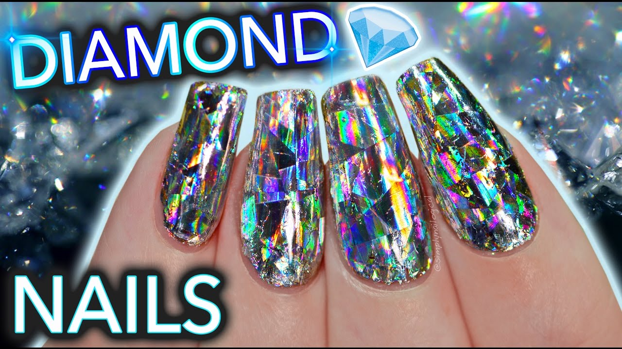 DIY Diamond Nails aka HOLO GET IT STRAIGHT DAMNIT - YouTube
