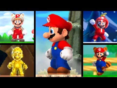 New Super Mario Bros. Series - All Power-Ups & Transformations (2006-2012)