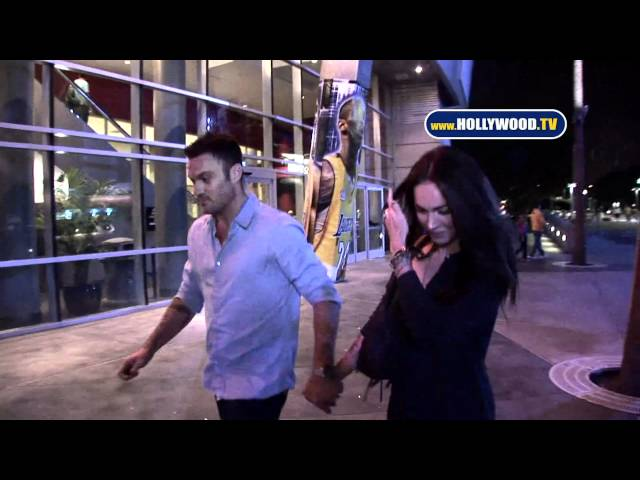 Megan Fox and Brian Austin Green @ Lakers Game at The Staples Center