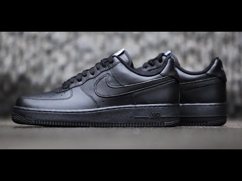 1916ef6de8 Unboxing New Triple Black Air Force 1 '07 Low - YouTube