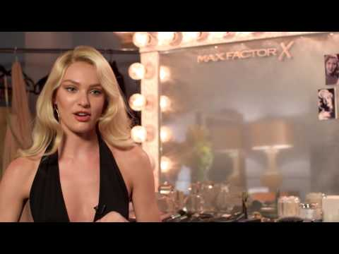 Candice Swanepoel for Max Factor on Glamour Transformation