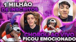 REAÇÃO DO NOBRU AO RECEBER HOMENAGEM DE 1 MILHÃO DE INSCRITOS, EMOCIONOU MUITO!!