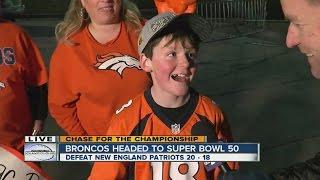 Broncos fans celebrate after big win over Patriots